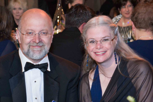 David Farland, Writers of the Future Coordinating Judge, with Kristine Kathryn Rusch.
