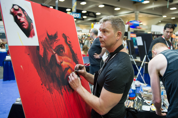 Rob Prior at Comic Con 2015.