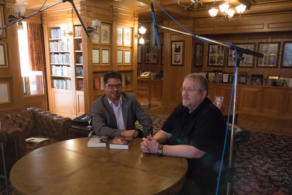 Joe Davis interviewing Orson Scott Card at Author Services, Inc.