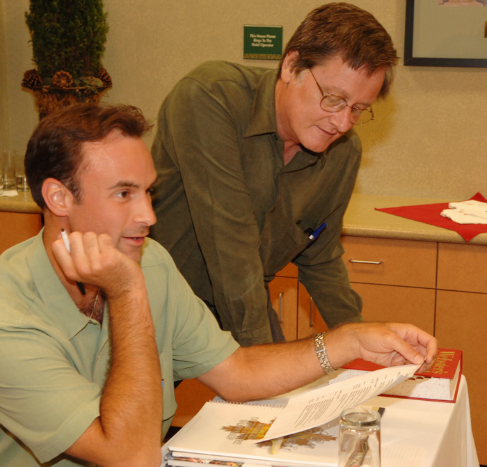 David with Tim Powers at the Writers Workshop, 2006