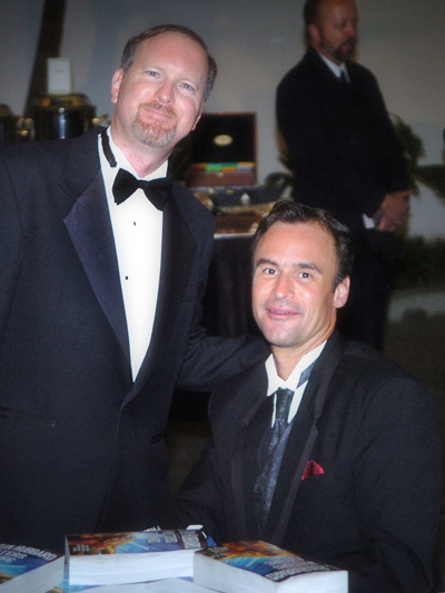 Kevin J. Anderson and David at the Writers of the Future Annual Awards 2006 after-party