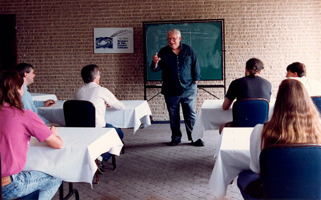 Algis instructing at the Writers Workshop held at George Washington University