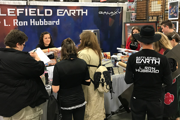 Galaxy Press booth at Salt Lake Comic Con