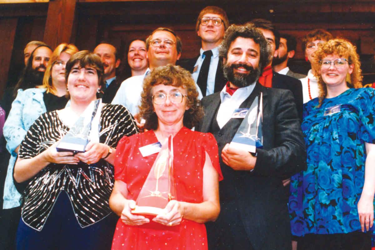 Winners and judges from 1988