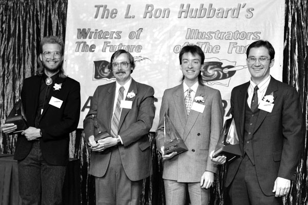 First Place winners Bruce Holland Rogers, James Alan Gardner, John W. Randal and James Gleason Bishop