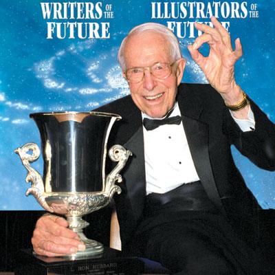 Jack Williamson and his Lifetime Achievement Award.