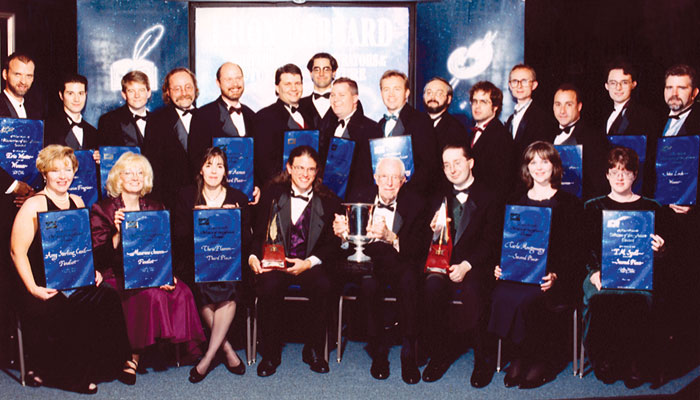 Jack Williamson surrounded by the WotF class of 1998.
