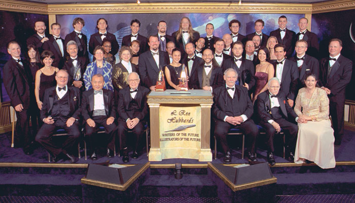 The Writers and Illustrators of the Future winners and judges, 2002.