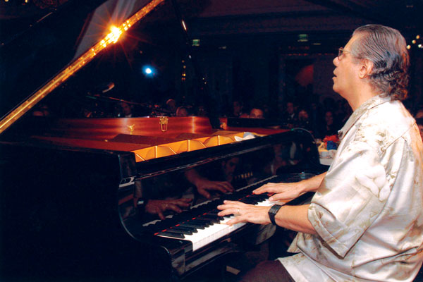 Chick Corea performs a new composition at the Awards ceremony.