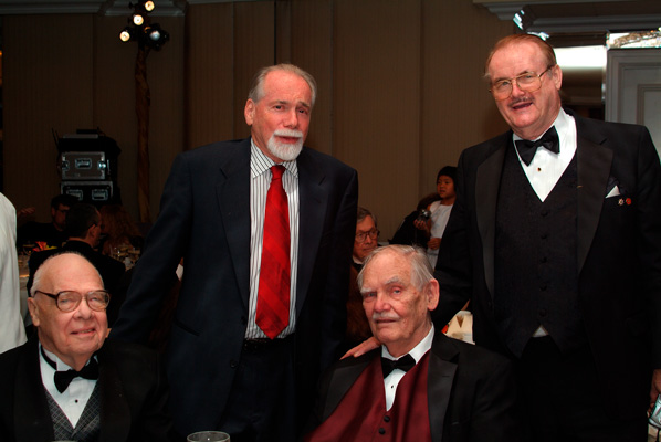 Writer judges Hal Clement, Robert Silverberg, Frederik Pohl and Jerry Pournelle