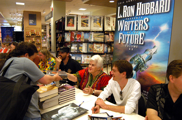 Anne McCaffrey and writer winners participated in a book signing on the day after the Awards event.