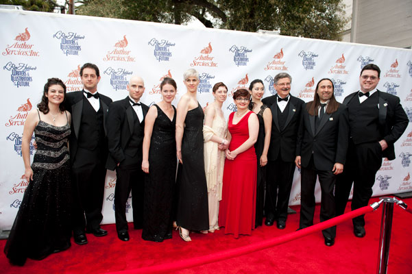 Writer winners on the red carpet.
