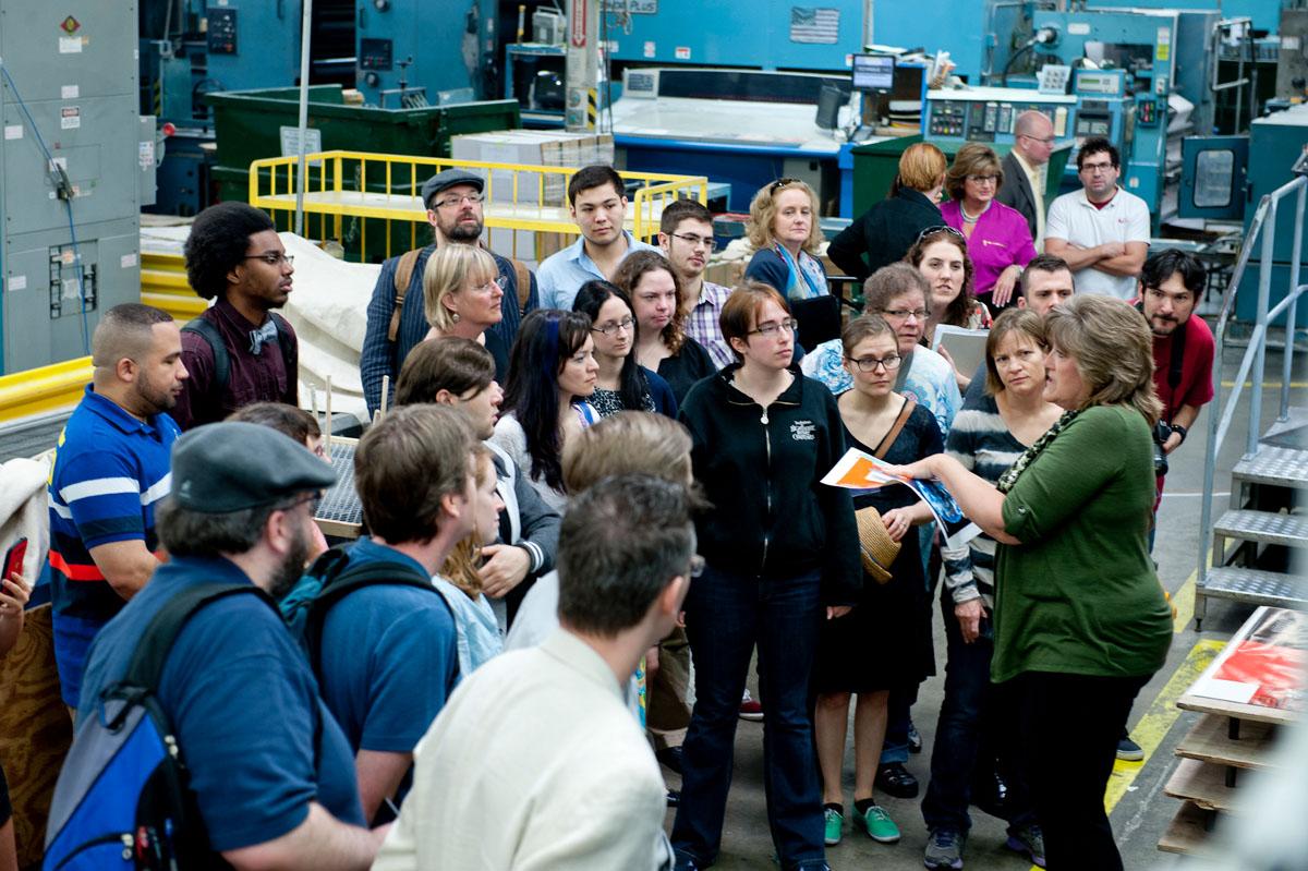 At the Bang Printing Plant
