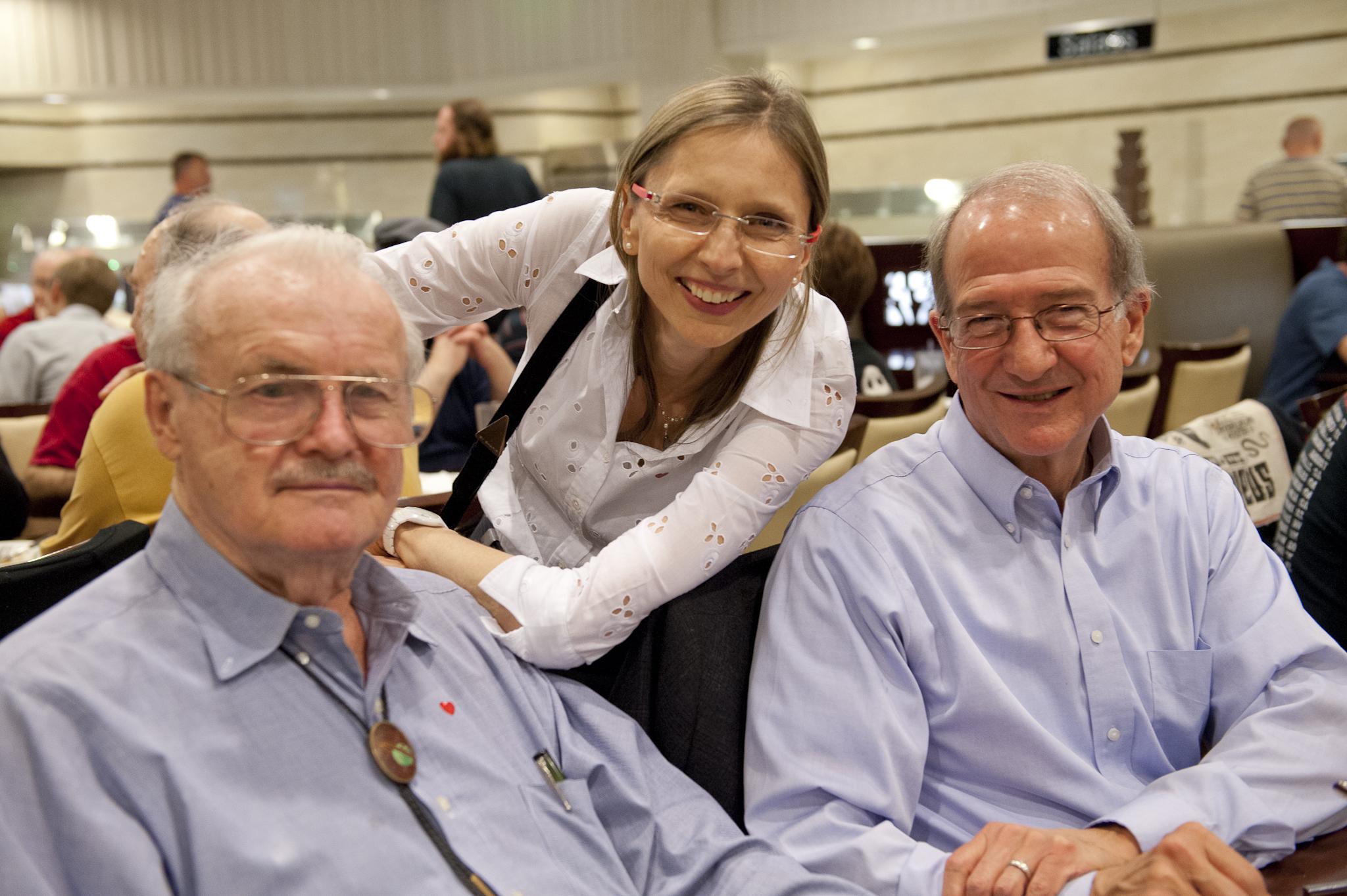 Jerry Pournelle, Gunhild Jacobs and Doug Beason.