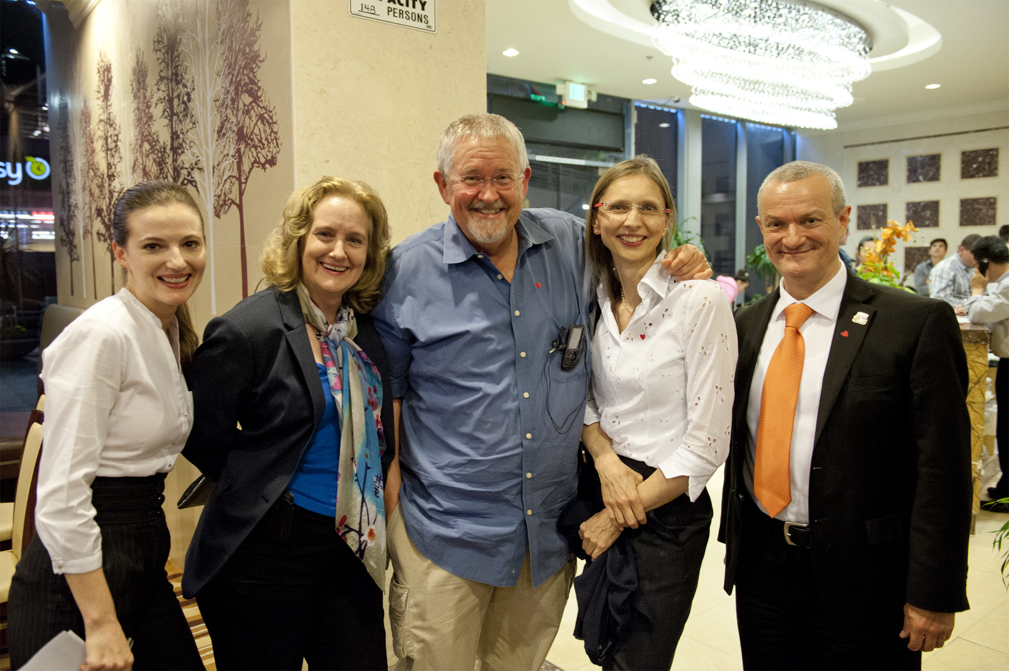Galaxy Press and Author Services administrators welcome Orson Scott Card.