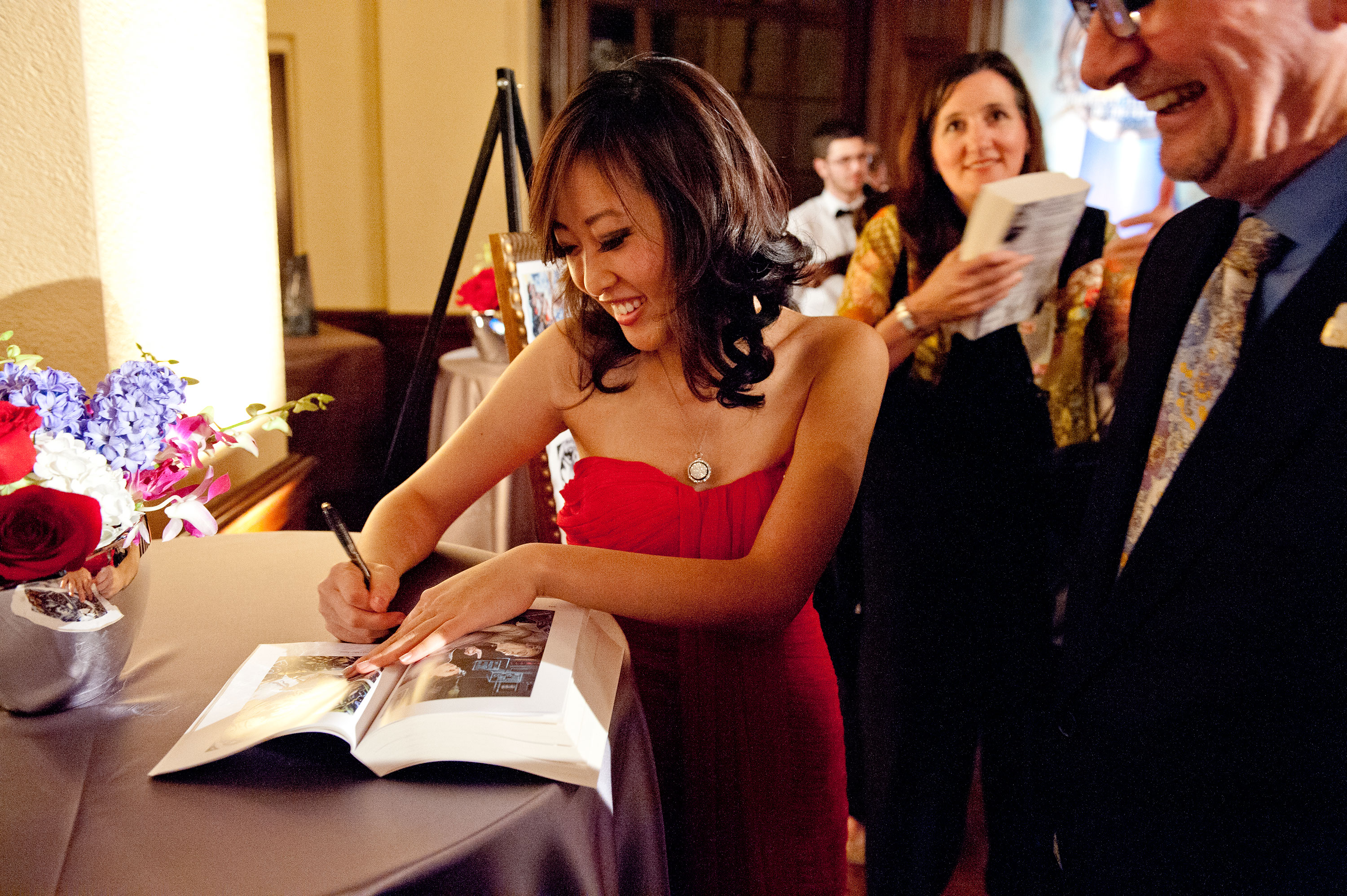 Kristie Kim signing books after the event