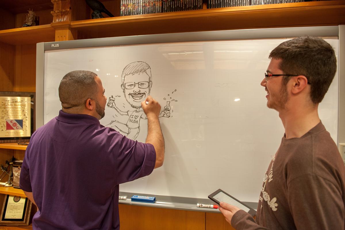 Award-Winning illustrator and Judge Robert Castillo with illustrators Bernardo Mota