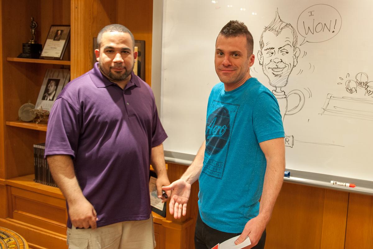 Award-Winning illustrator and Judge Robert Castillo with illustrators Trevor Smith