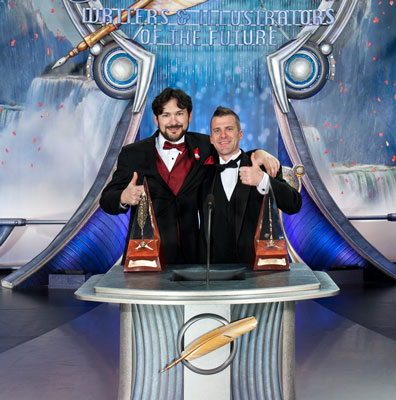 Gold Award Winners (writer) Randy Henderson and (illustrator) Trevor Smith.