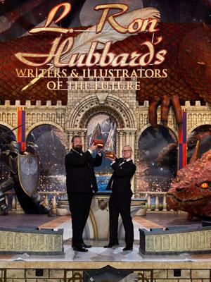 Grand prize winners (writer) Jake Marley and (illustrator) Michael Michera.