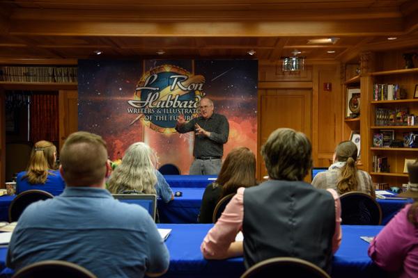 Writers judge Todd McCaffrey.