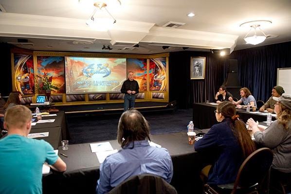 Illustrators of the Future Workshop begins with art instructor, Ron Lindahn.