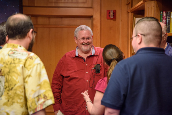 Orson Scott Card with Jon Lasser, Rachael Jones and JW Alden.