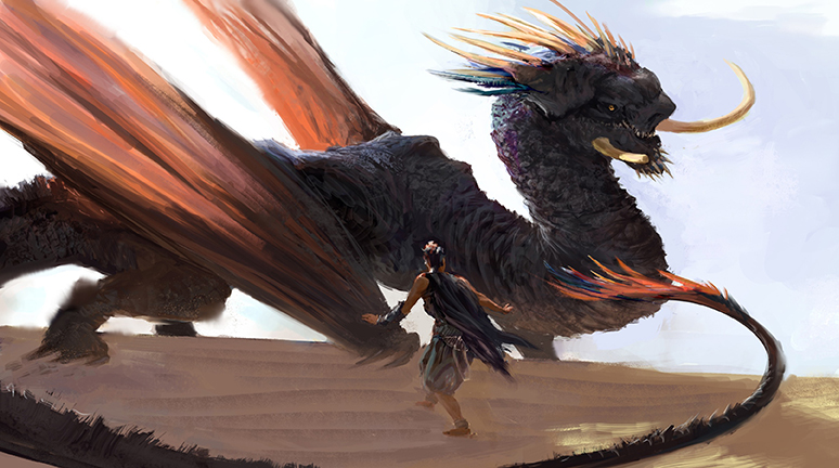"""""""Dragon Encounter"""" by Quinlan Septer"""