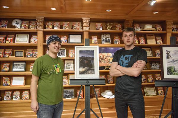 Writer Ryan Row with illustrator Jonas Spokas.