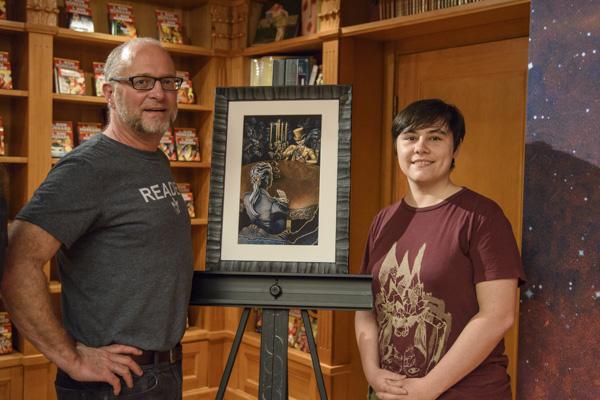 Author Stephen Merlino with illustrator Maricela Ugarte Pena.