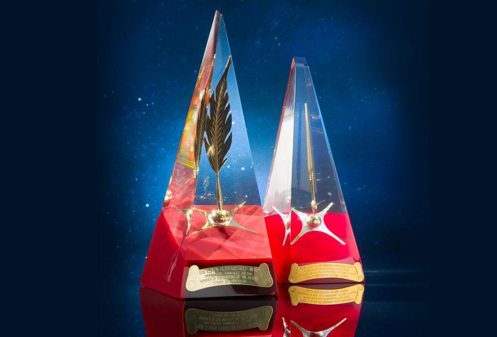 Writers & Illustrators of the Future trophys