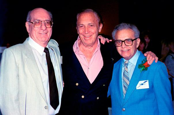 DC Comics Julius Schwartz, Bob Kane co-creator of Batman and Jack Kirby.