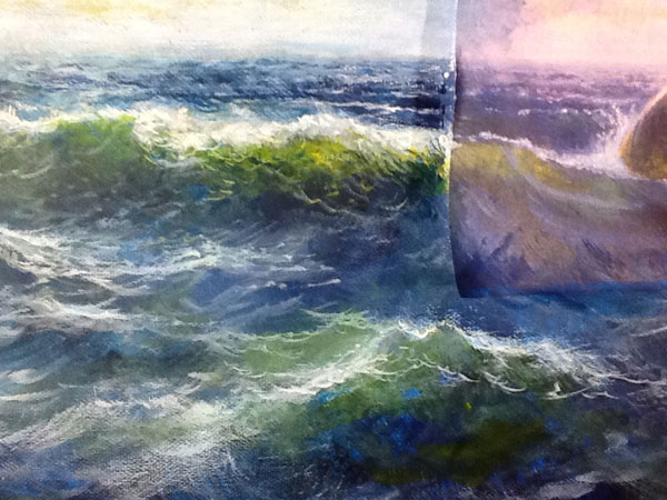 Detail of water and waves