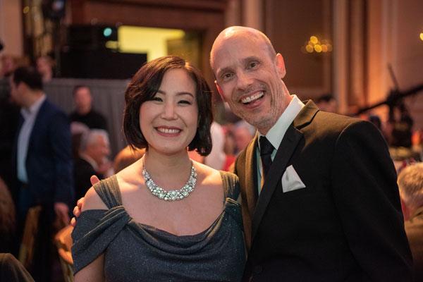 Illustrator Christine Rhee & Preston at awards ceremony