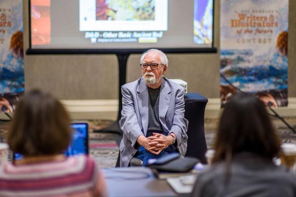 Larry Elmore at the Illustrators of the Future workshop