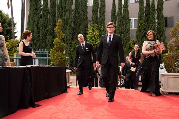 Preston arriving to Taglyan Complex for awards event