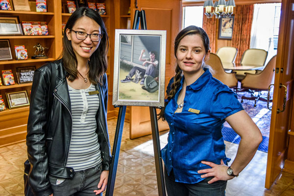 Carrie with her story's illustrator, Yingying Jiang