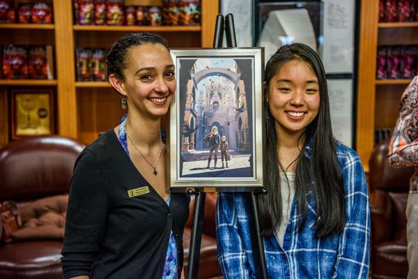 Elise painting and Aliya