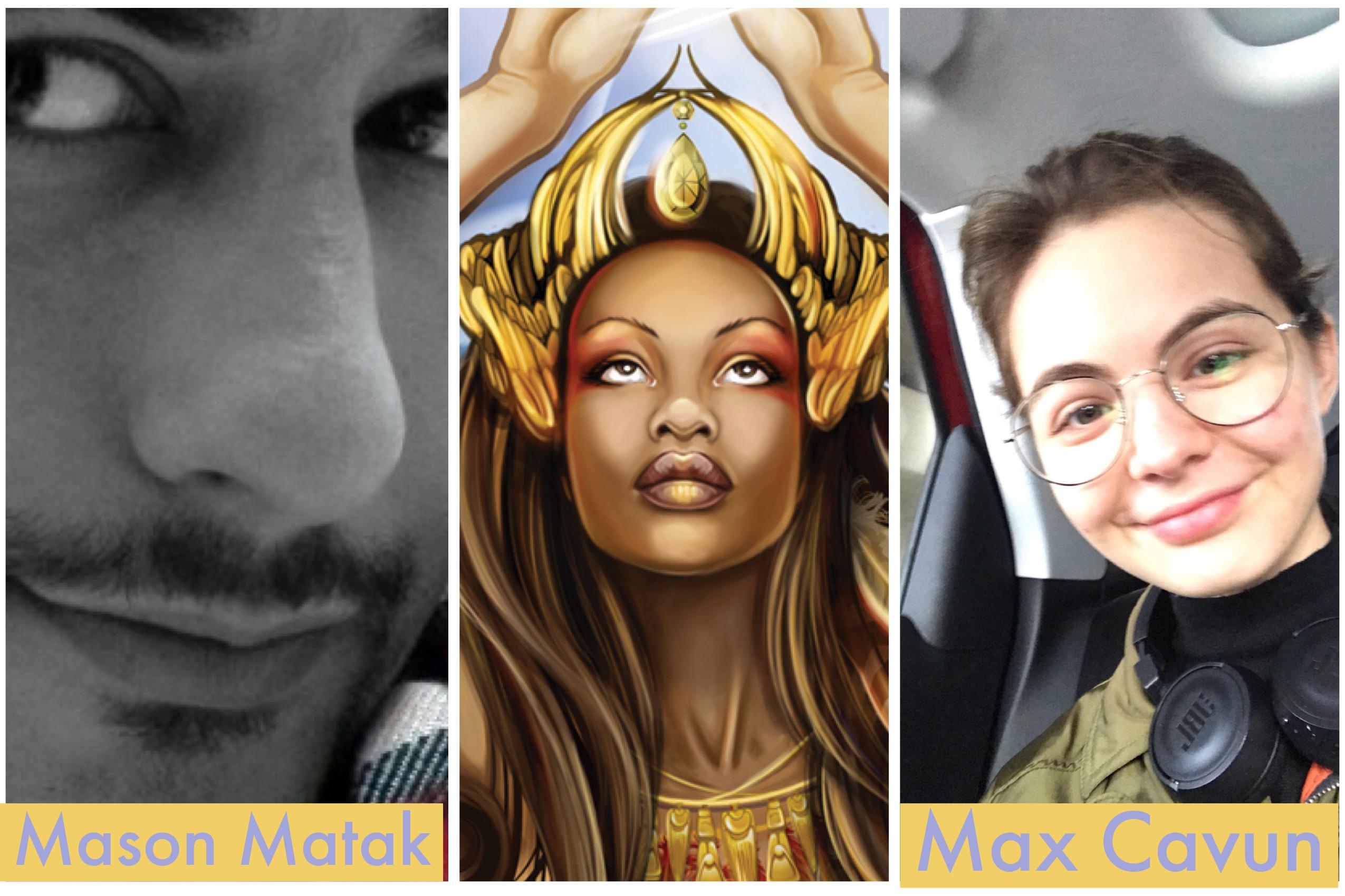 Mason Matak, from Iran, and Max Cavun, from Turkey, are Illustrators of the Future winners