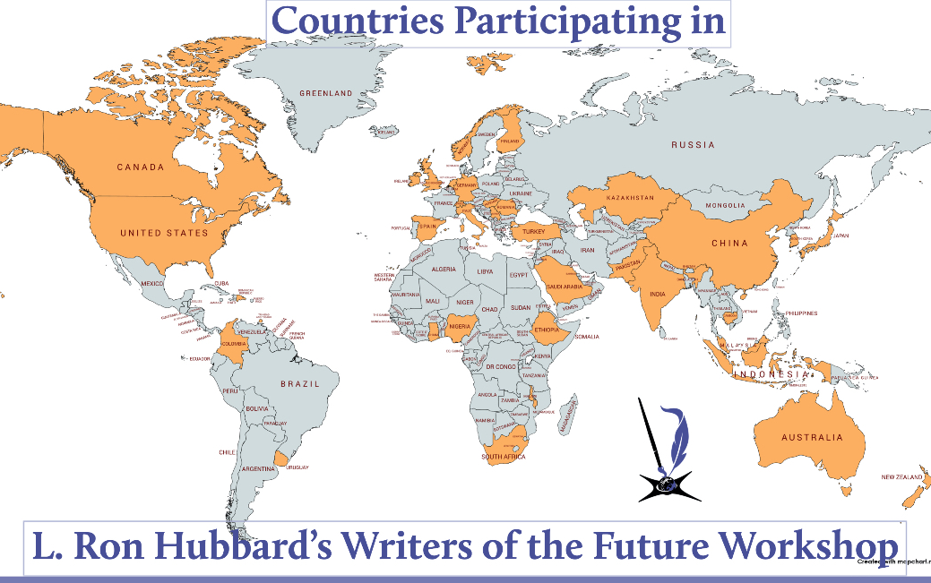 Countries taking Writers of the Future