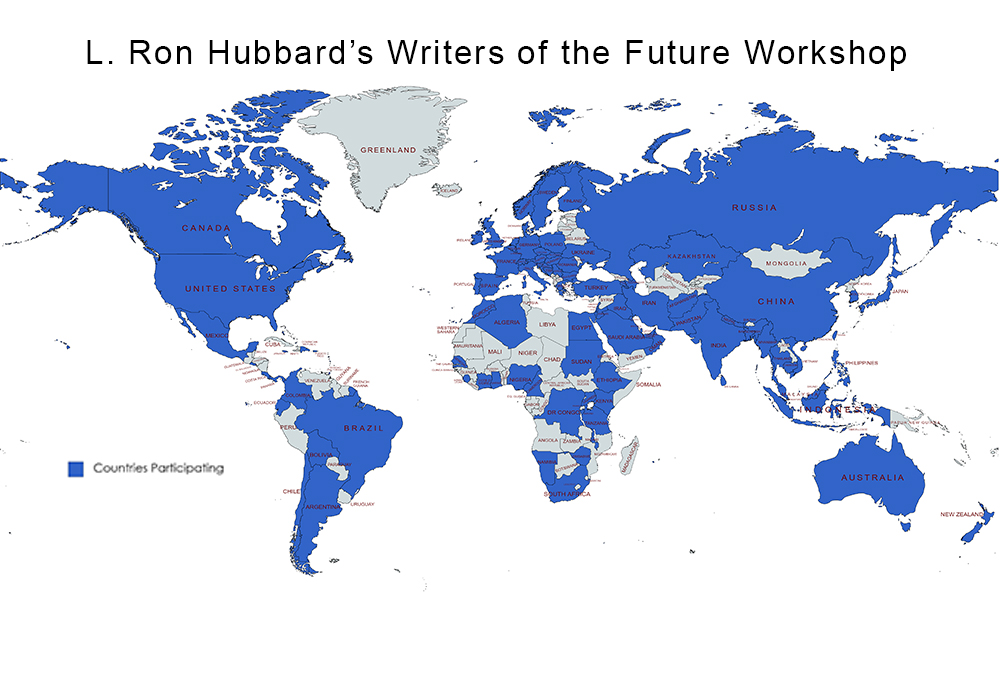 L. Ron Hubbard's Writers of the Future Online Workshop with 107 countries participating