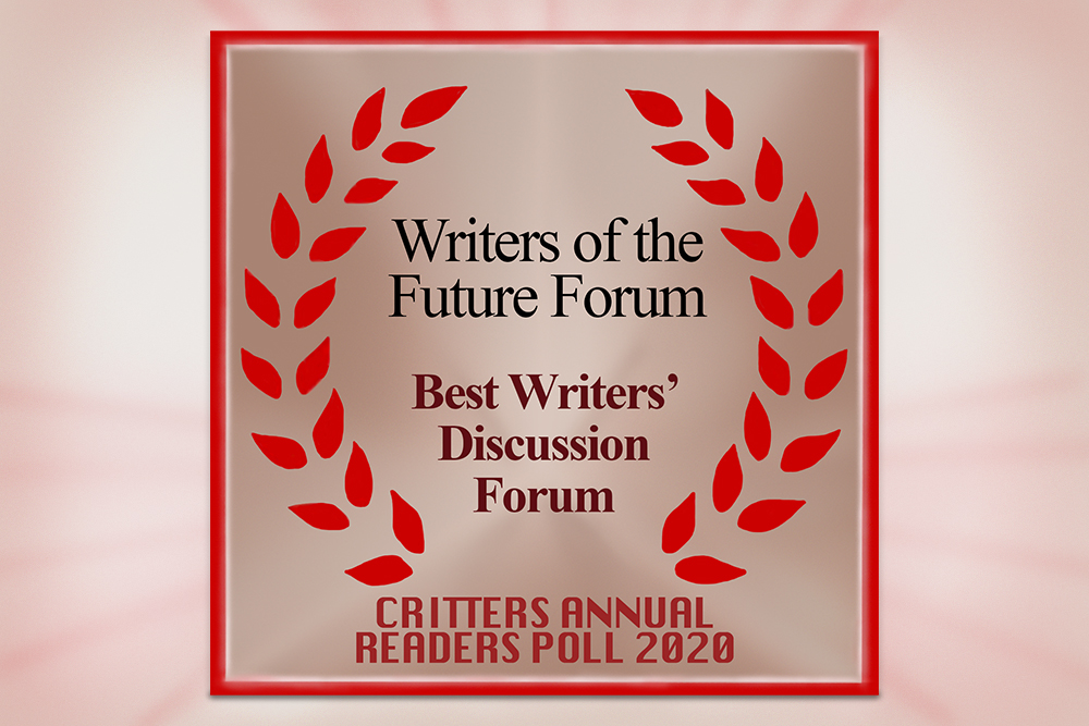 L. Ron Hubbard Writers of the Future Forum wins Best Writers' Discussion Forum from Critters Annual Readers Poll with 2,500 voters around the world